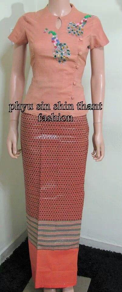 myanmar dress # designed by phyu sin shin thant