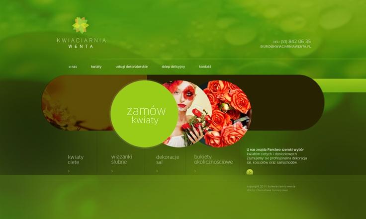 strona internetowa dla kwiaciarni.  wykonanie nowoczesnego projektu opartego na kołach.