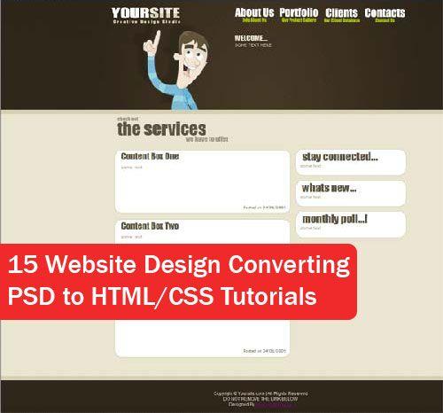 15+ Website Design Converting PSD to HTML/CSS Tutorials