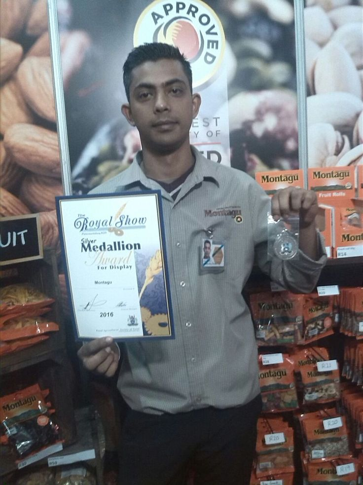 """You could say we are feeling """"just peachy"""" about this great news… :) Montagu won the Silver Medallion Award for our display at the Royal Show South Africa in Pietermaritzburg! Well done to our teams doing such a great job representing us at the show!"""