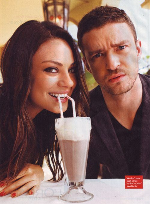Mila and Justin - They should be a real-life couple. I just can't see the him/Jessica Biel thing.