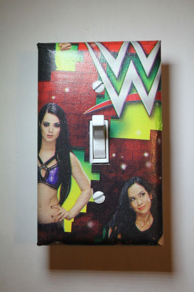 Paige AJ Lee WWE Light Switch Cover Wrestling boys girls bedroom room decor Diva