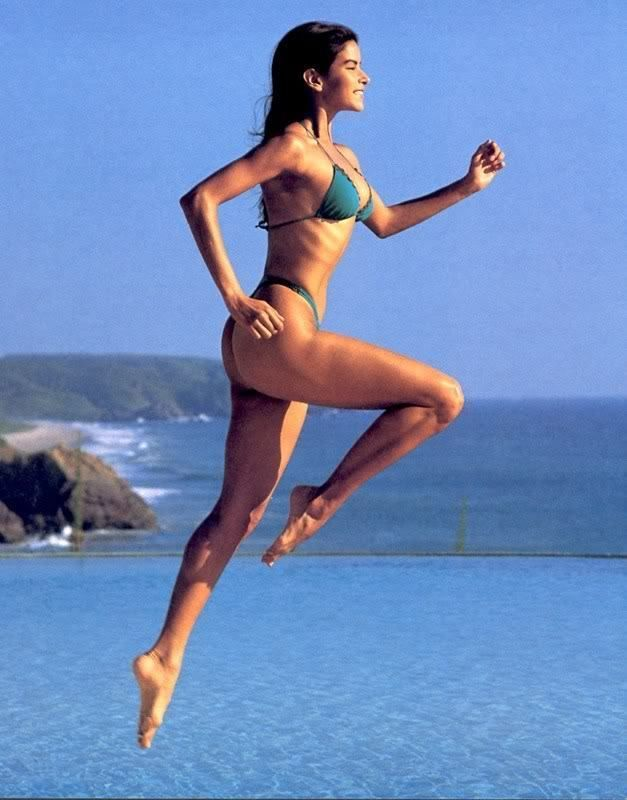 80s - Patricia Velaquez. Venezuelan model. Early in her modeling career, she appeared in several issues of the annual Sports Illustrated Swimsuit Issue, parlaying this fame into movie and television roles.