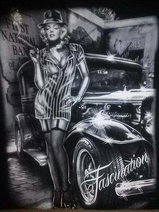 Pin Up Girl Wallpaper Mexican Culture Chicano Flash Art Noir