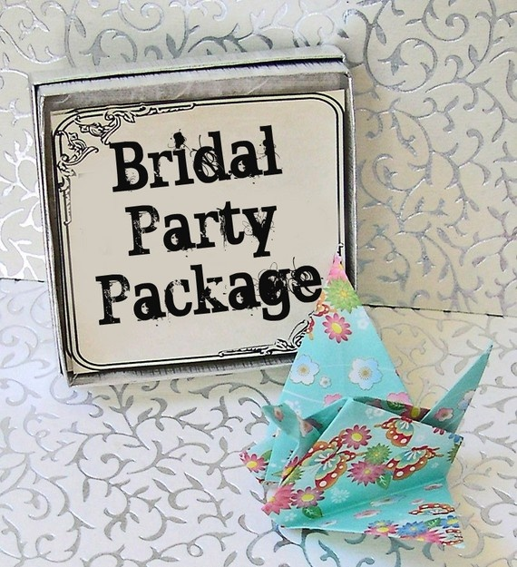 BRIDAL PARTY PACKAGE  Origami Peace Crane by peacecranegreetings, $70.00