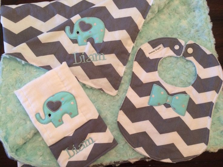 Best 25 elephant baby clothes ideas on pinterest elephant baby personalized aqua and gray chevron elephant baby shower gift set gray aqua teal elephant baby blanket negle Images