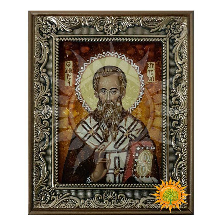 Святой Андрей Первозванный икона из янтаря - Amber stone