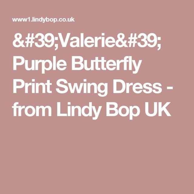 'Valerie' Purple Butterfly Print Swing Dress -  from Lindy Bop UK