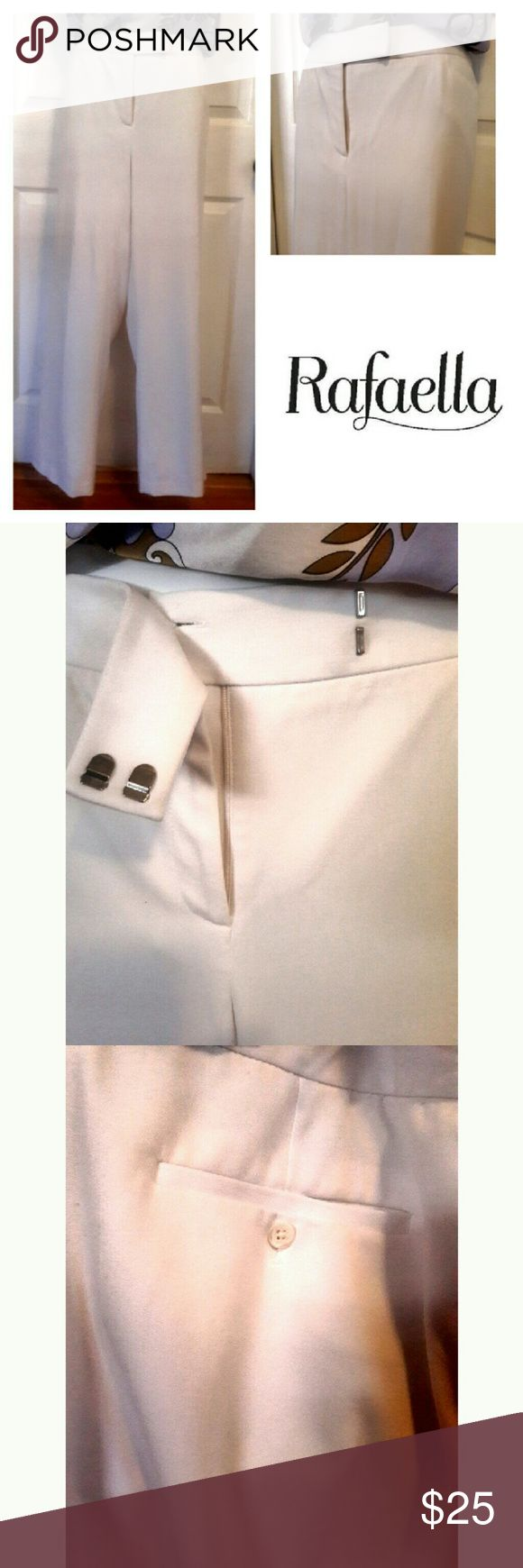 NWOT Rafaella White Dress pants NWOT Rafaella White Dress pants. Fully lined. Double button back pockets. Full front pockets. Size 16 Rafaella Pants