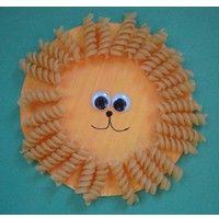 Macaroni Paper Plate Lion Craft