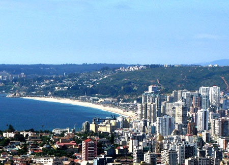 View from Rodelillo Campus in Viña del Mar