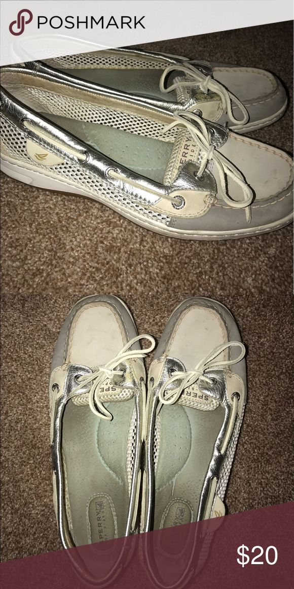 White Sperry shoes Slightly used. White. Sperry Shoes