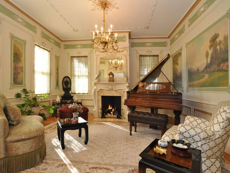Brooklyn New York Brownstone Victorian Interior With Bay Win