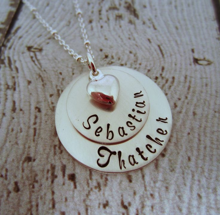 Childrens Name Necklace, Mom Necklace, Mom Necklace with Kids Names, Necklace…