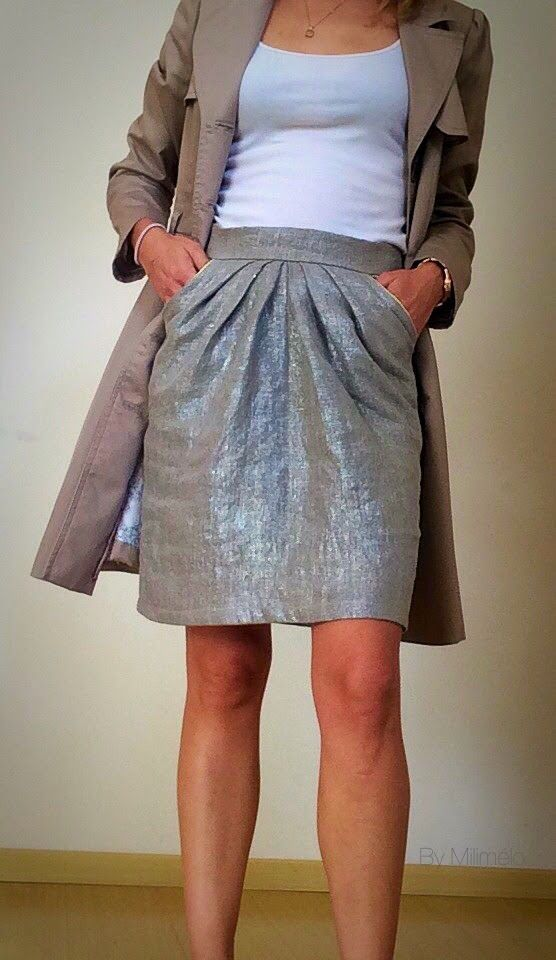 Plus de 25 id es uniques dans la cat gorie patron jupe - Patron couture jupe droite ...