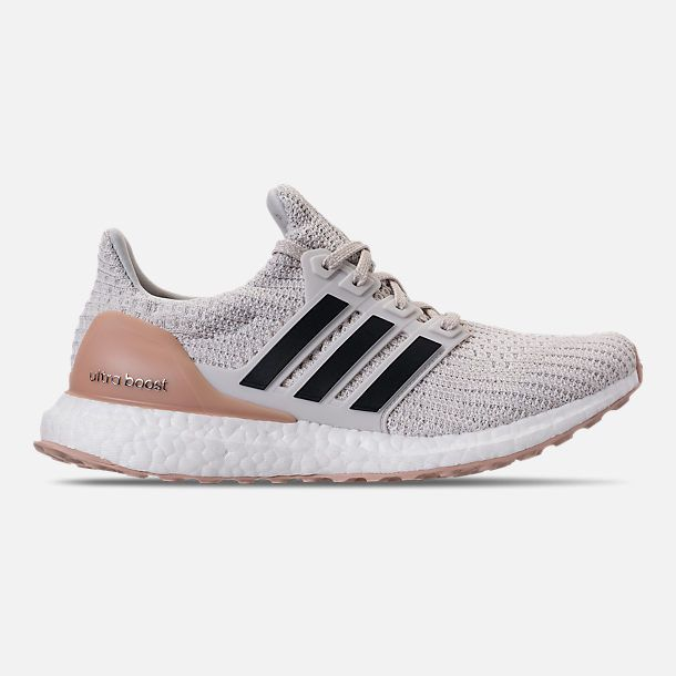 Right View Of Women S Adidas Ultraboost 4 0 Running Shoes In Cloud White Carbon Footwear White Adidas Ultra Boost Adidas Women Womens Running Shoes