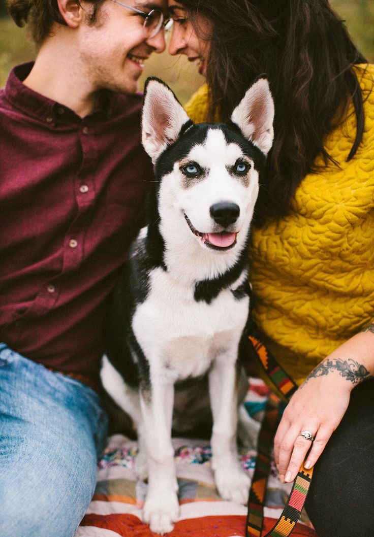 "26 Engagement Photo Ideas For Every Type of Couple - with the addition of your dog (read ""child"") 