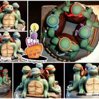 Gâteau Tortues Ninja -- TMNT (Ninja Turtles) Cake