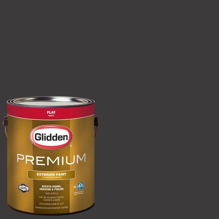 Glidden Premium 1 gal. #nba-042G Golden State Warriors Dark Gray Flat Exterior Paint