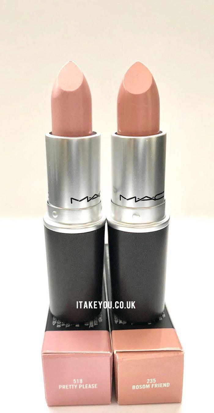 Bosom Friend Mac : bosom, friend, Neutral, Lipstick, Shades, Shades,, Makeup