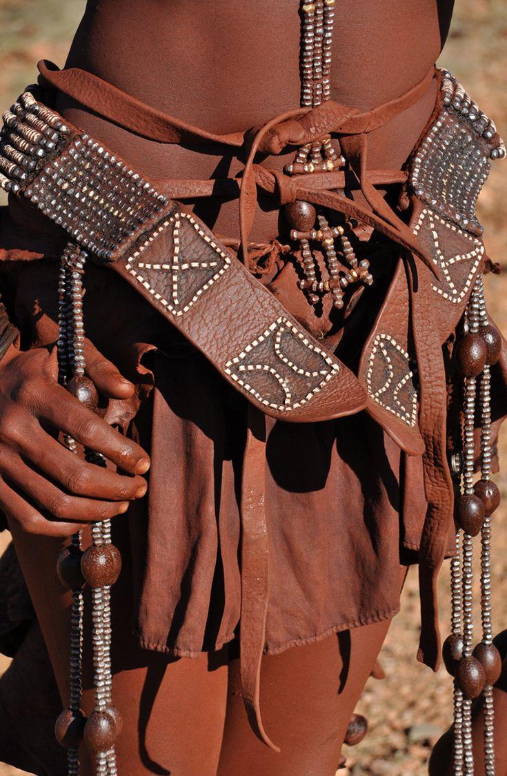 Africa | Details; Himba belts.  Kunene, Namibia | ©Gabi, via flickr