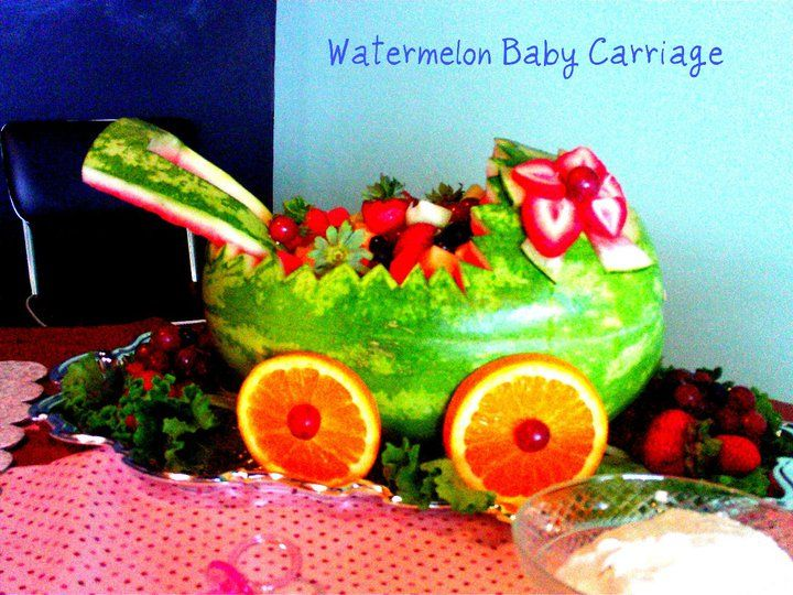Baby Shower Food Ideas Baby Shower Ideas Watermelon Carriage