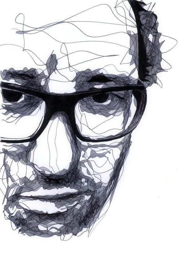 Drawing by Kris Trappeniers. This artist intrigues me because of his unconventional way of drawing portraits.