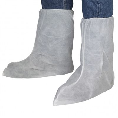 "These disposable white polypropylene Boot Covers are the most economical choice to protect both your shoes and boots. Perfect for factories, medical facilities, pharmaceutical companies, food preparation and more. These 13"" high boot covers not only cover shoes but your average industrial work boot. A great choice to have on hand to pass out easily to all of your staff. $0.23 each Packed 400/Case"