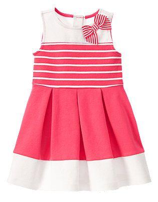 Pretty Poppy Striped dress