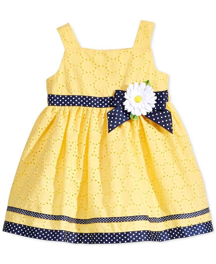Sweet Heart Rose Baby Girls' Yellow Eyelet Dress