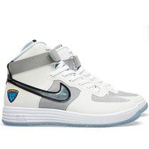 Nike Lunar Force 1 Hi White & Metallic Silver