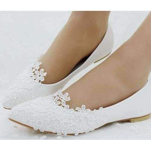Ballet Flats White Lace Wedding Shoes Sale  