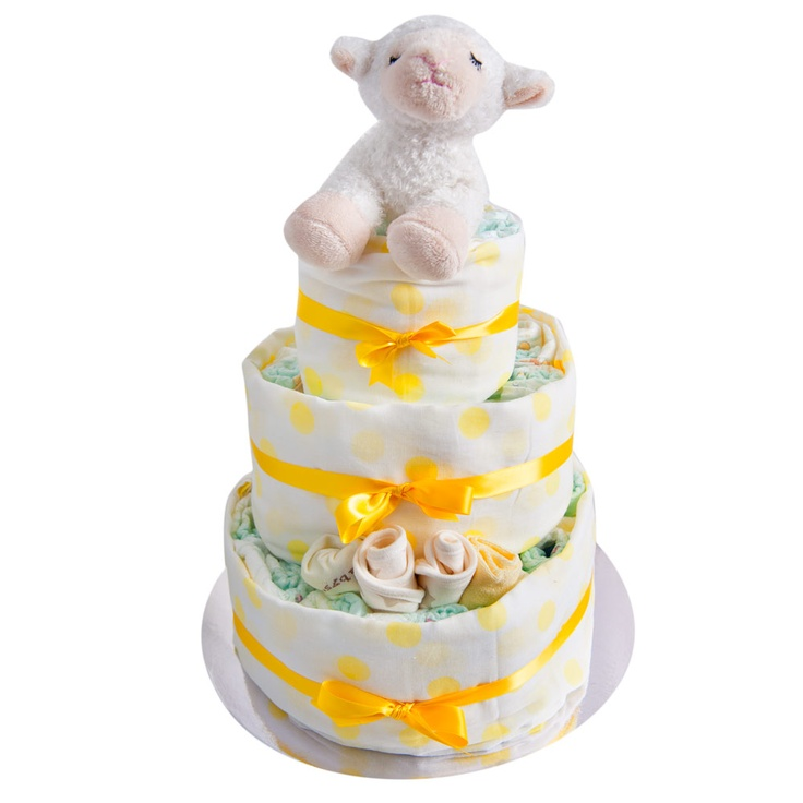 3 Tier Neutral Nappy Cake