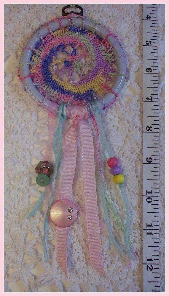 Mini Dream Catcher Multi-Color Swirl by jeanienineandme on Etsy
