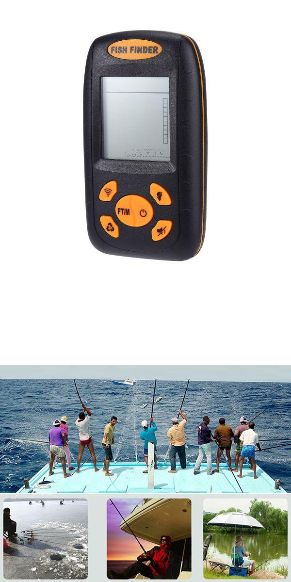 Fish Finder Best Portable 100M Wireless Sonar Fishfinder LCD Fishing Tackle Fishfinders Plus Water Depth Temperature Sonar