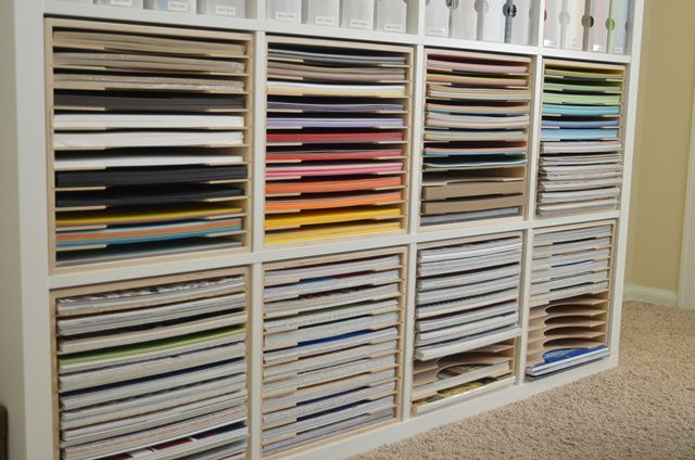 Paper Craft Storage In Ikea Shelving Craft Room
