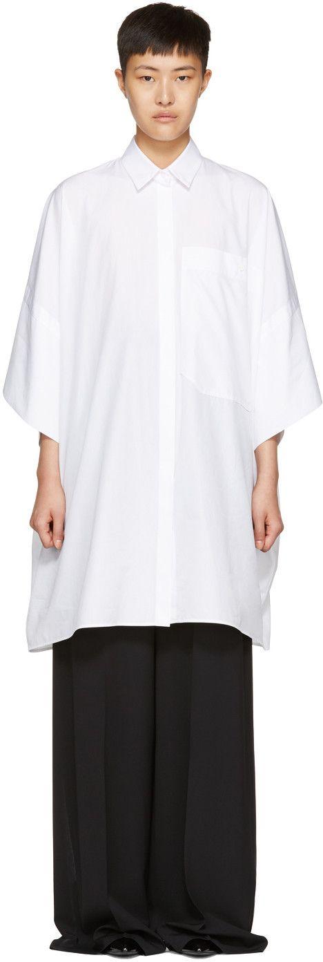 Jil Sander - White Danielle Kimono Shirt Dress