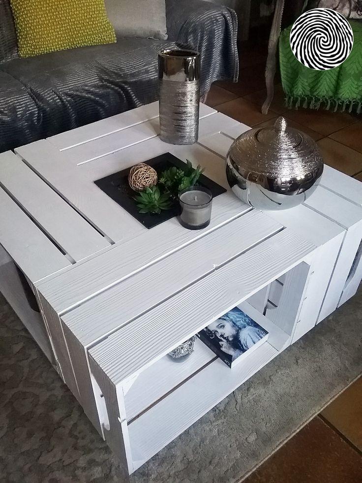 Les 170 meilleures images propos de caisse table - Table basse caisse pomme ...