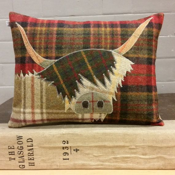 Handmade Highland Cow Cushion