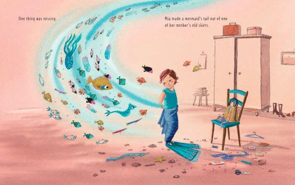 THE MERMAID'S SHOES Written and illustrated by Sanne te Loo (Picture book; ages 4 to 8) 2014