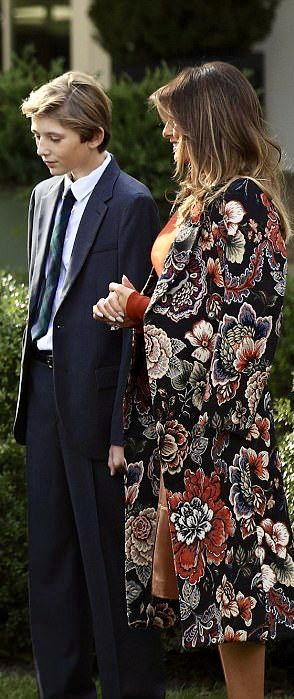 First Lady Melania Trump & Barron