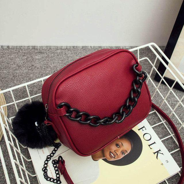Famous brand handbags women shoulder bag designer plush ball chain leather bag small crossbody bags for women Messenger Bags