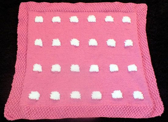 Finished Blanket before Sheep Embroidery