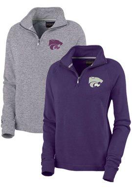 Product: Kansas State University Wildcats Women's 1/4 Zip Chelsea Fleece Pullover