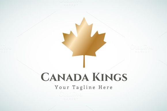 Canada leaf logo vector template by Vector-Stock on Creative Market