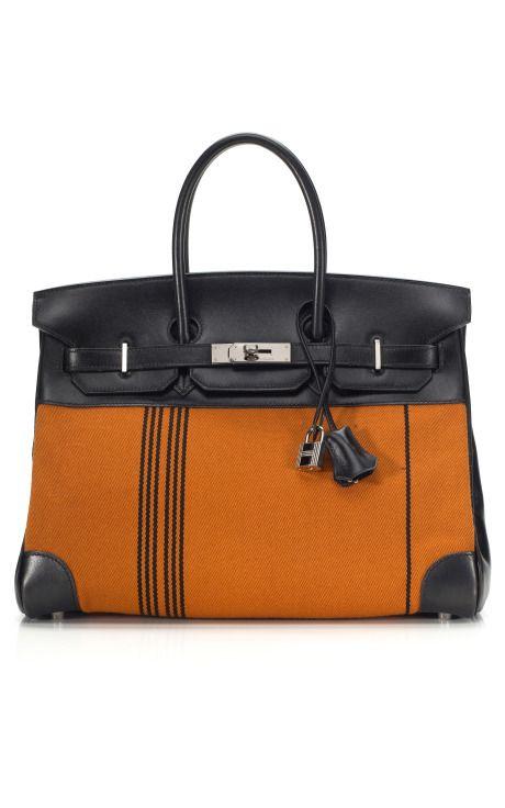 Orange and Black Hermes Birkin
