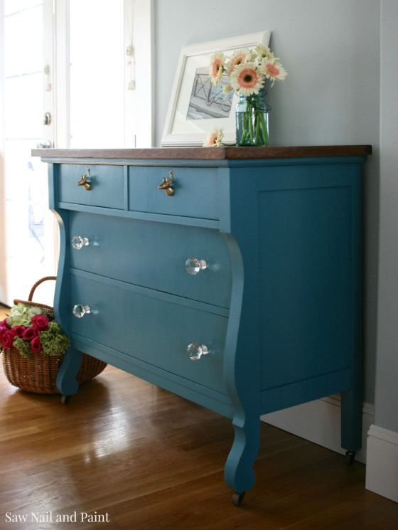 Calypso Blue Empire Dresser Side