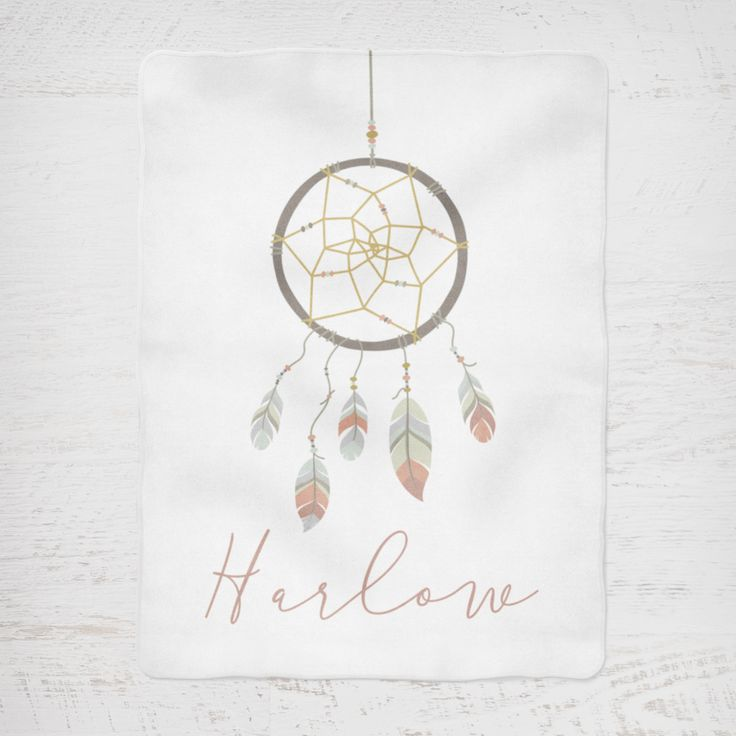 Colour and Spice Personalised Blanket Boho Dreamcatcher