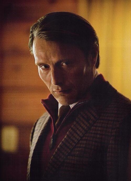 Hannibal - my god the handsomeness is taking my breath away.