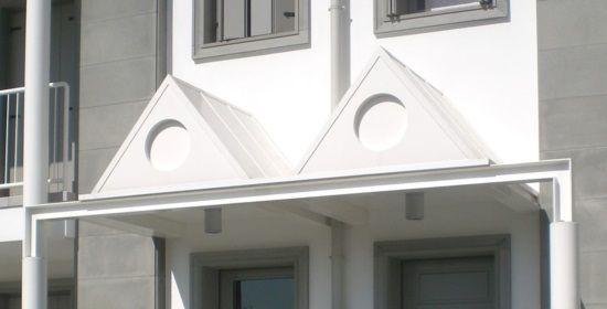 villa bifamiliare, progetto